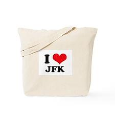 I Love JFK Tote Bag