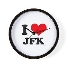 I Love JFK Wall Clock