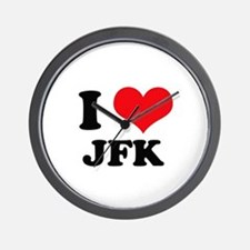 I Love JFK Wall Clock