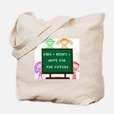 Kids + Books Tote Bag