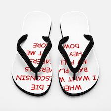 wisconsin sports Flip Flops