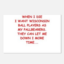 wisconsin sports Postcards (Package of 8)