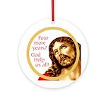 Jesus says: God Help Us! Ornament (Round)