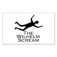 Wilhelm Scream Rectangle Decal