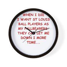 st louis sports Wall Clock