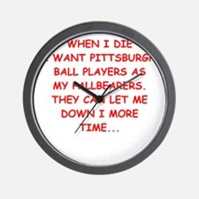 pittsburgh sports joke Wall Clock