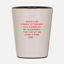 pittsburgh sports joke Shot Glass