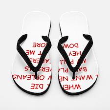 new orleans sports Flip Flops