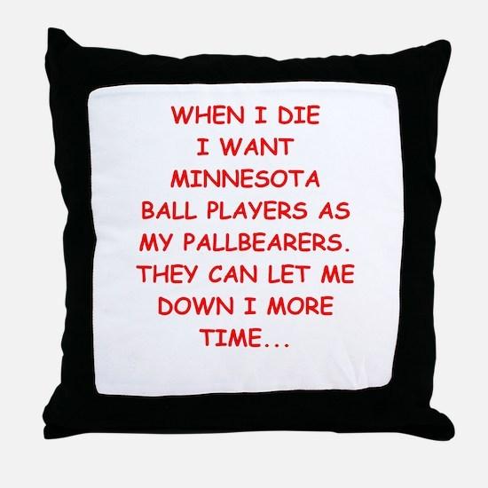 minnesota sports Throw Pillow