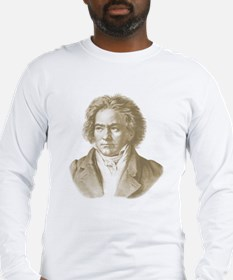 Beethoven In Sepia Tones Long Sleeve T-Shirt