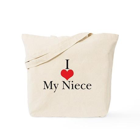 I Love (Heart) My Niece Tote Bag