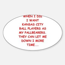 kansas city sports joke Decal