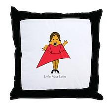 Little Miss Latin Throw Pillow