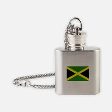 Cute Jamaica colors Flask Necklace