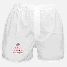 Keep calm you live in Crandon Wiscons Boxer Shorts