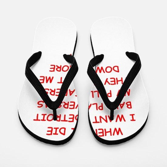 detroit sports joke Flip Flops