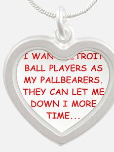 detroit sports joke Necklaces