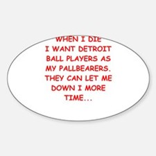 detroit sports joke Decal