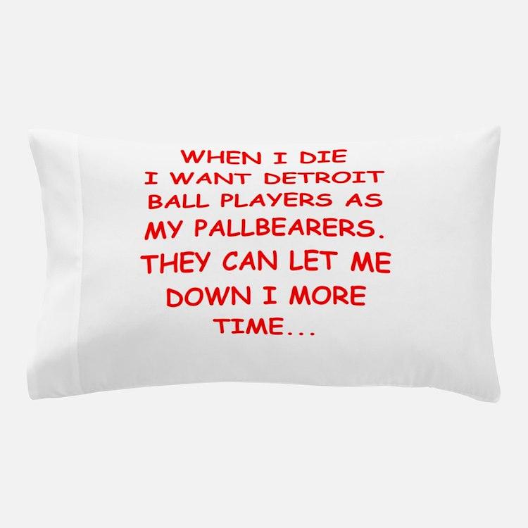 detroit sports joke Pillow Case