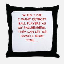 detroit sports joke Throw Pillow