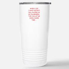 detroit sports joke Travel Mug