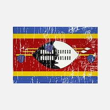 Vintage Swaziland Rectangle Magnet