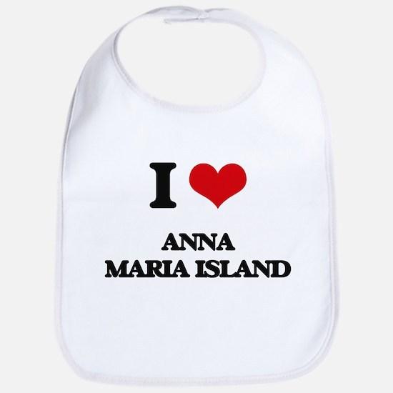I Love Anna Maria Island Bib