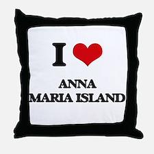 I Love Anna Maria Island Throw Pillow