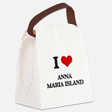 I Love Anna Maria Island Canvas Lunch Bag