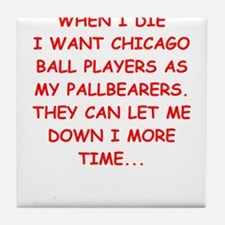 chicago sports Tile Coaster