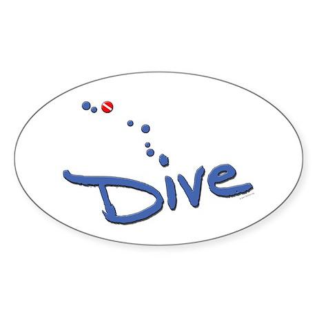 Dive Oval Sticker