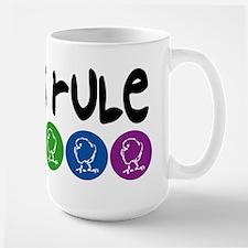 Chicks Rule Large Mug