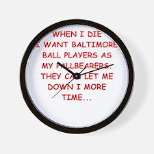 baltimore sports Wall Clock