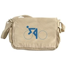 Blue Cycling Messenger Bag
