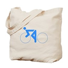 Blue Cycling Tote Bag