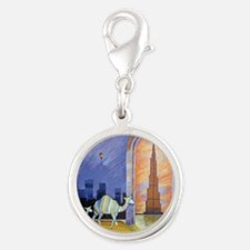 Camels in the wonderland  Silver Round Charm