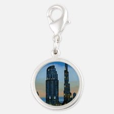 the dream city Silver Round Charm