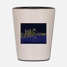 Reflection of city Shot Glass