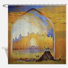Atlantis and Camels Dubai Shower Curtain