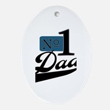 Number One Dad Oval Ornament