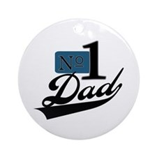 Number One Dad Ornament (Round)