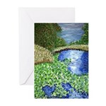 Water Lillies in Bayou Note Cards (Pk of 10)