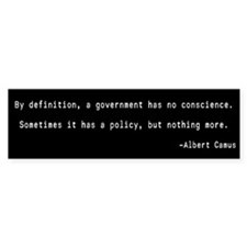 Camus Government Quote Bumper Bumper Sticker