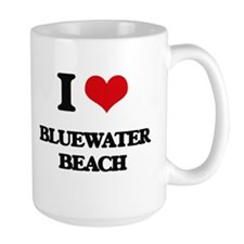 I Love Bluewater Beach Mugs