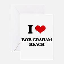I Love Bob Graham Beach Greeting Cards
