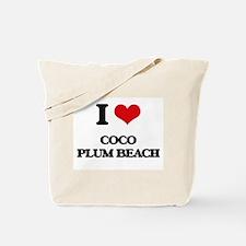 I Love Coco Plum Beach Tote Bag