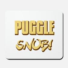 Puggle Snob - gold Mousepad