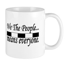 We the people black and white Mugs