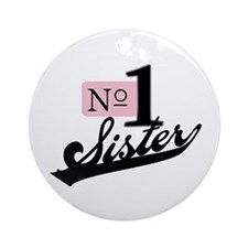 Number One Sister Ornament (Round)