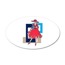 CLASSIC FASHION MODEL Wall Decal